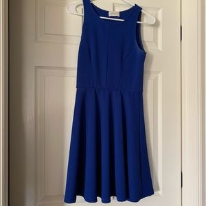 Francesca's Navy Blue Dress